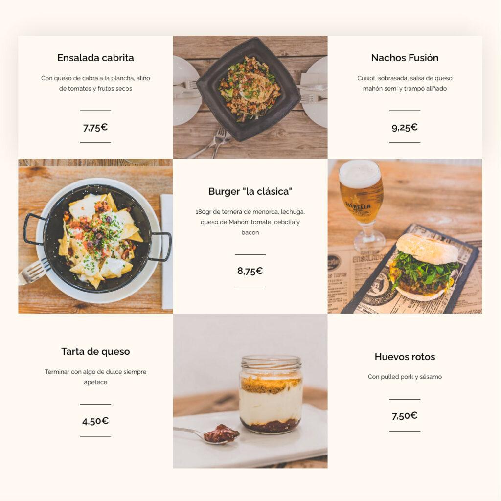Diseño Web Restaurantes Menorca